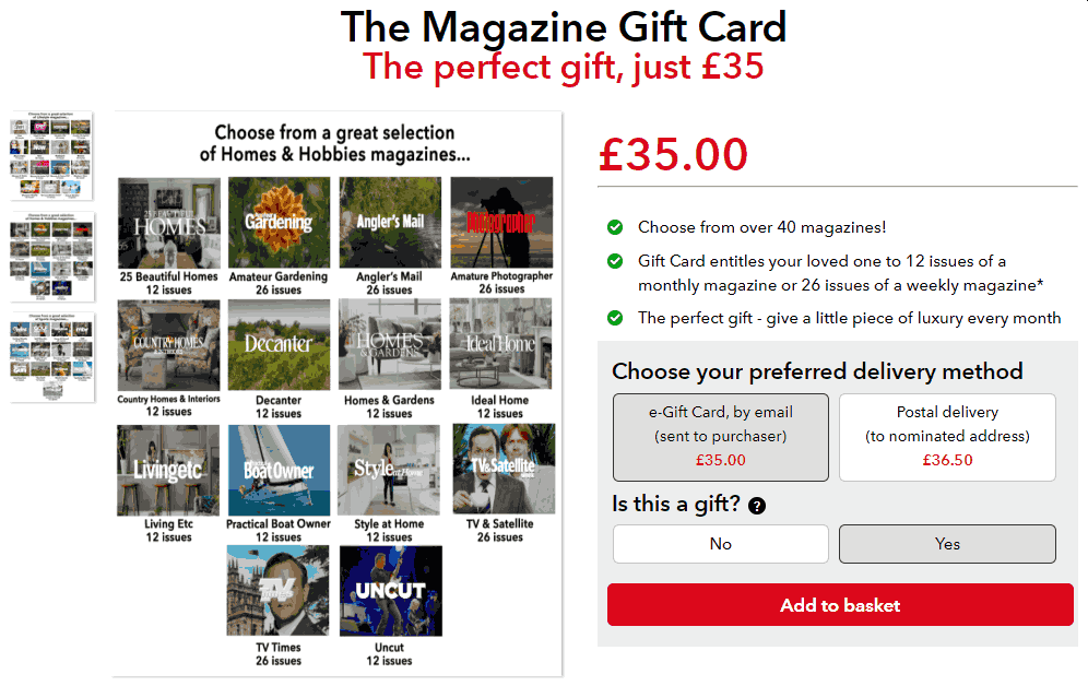 Magazines Direct Gift Card